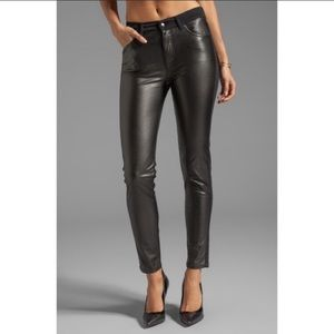 Alexander McQueen Faux Leather Skinny Panel Jeans